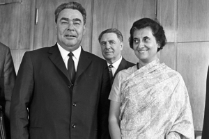 General Secretary of the CPSU Central Committee Leonid Brezhnev and Prime Minister of India Indira Gandhi, 1973